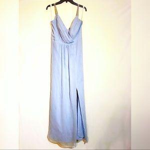 David's Bridal Powder Blue Bridesmaid's Dress